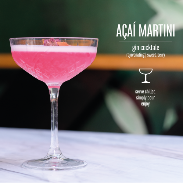 Açaí Martini Bottled Cocktail Mood